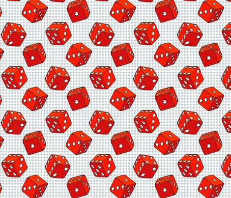 Everybody Knows The Dice Are Loaded fabric by louiseisobel on Spoonflower - custom fabric