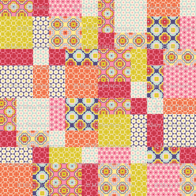 Spring Floral Disappearing 9 Patch