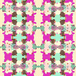 Crystal pink and purple quilt