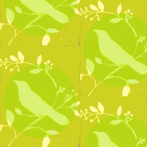 Chartreuse Bird and Vine