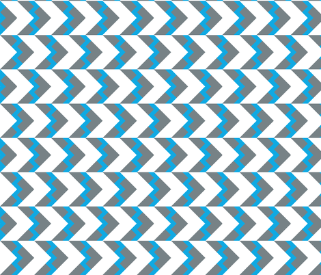 Chevron nested two frequency split gray blue fabric by arm_pillozzz on Spoonflower - custom fabric