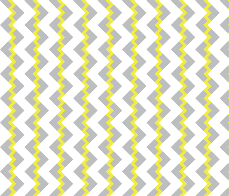 Chevron nested two frequency gray yellow fabric by arm_pillozzz on Spoonflower - custom fabric