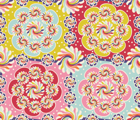 Mandala quilt fabric by cassiopee on Spoonflower - custom fabric
