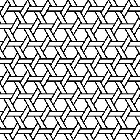 hexagonal straight weave