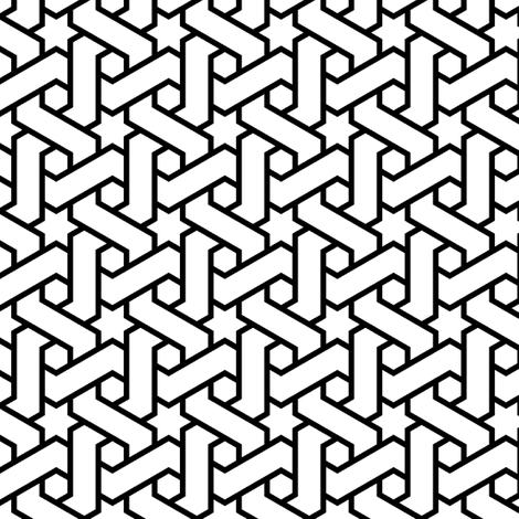 hexagonal star weave