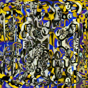 Composition with three figures remix