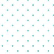 Little Dots Aqua on White