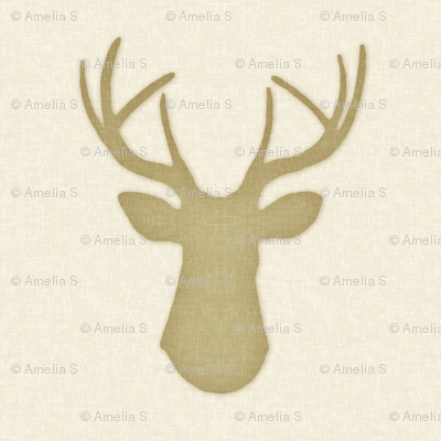 Deer Silhouette in Linen