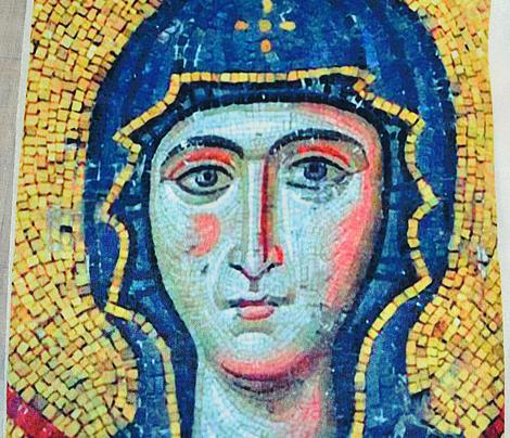 Byzantine Mosaic - Mary with Jesus