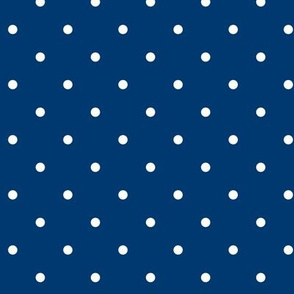 Little dots White on Navy