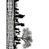 "Clan silhouette  21"" border"