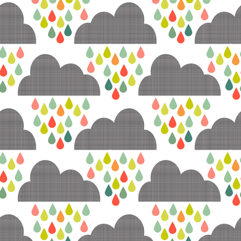 Happy Rain Small Scale fabric by natitys on Spoonflower - custom fabric