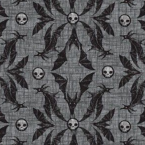 Bat Damask - gray