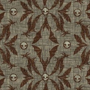 Bat Damask - cocoa