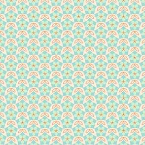 Penatgon Floral Diaper in Spring Floral Quilt Block palette  v2