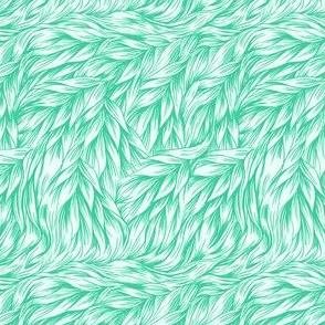 FUR in Bright Mint Green