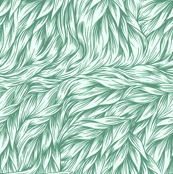 FUR in Peppermint Green