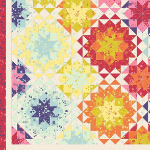 2-yards floral cheater quilt