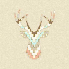 Chevron Deer Silhouette
