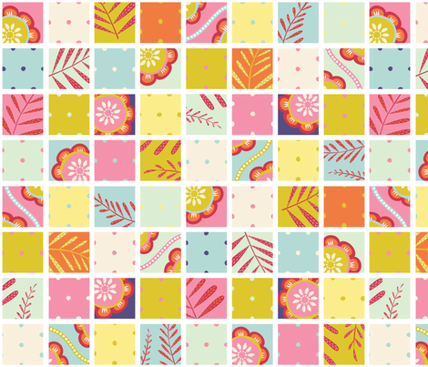 Spring Cheater Quilt fabric by jillbyers on Spoonflower - custom fabric