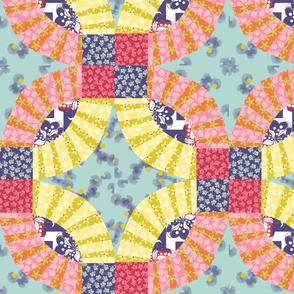 spring floral cheater block