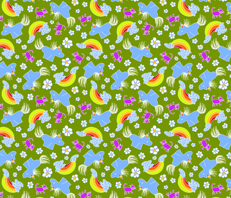 anastasia's unicorn fabric by thelazygiraffe on Spoonflower - custom fabric