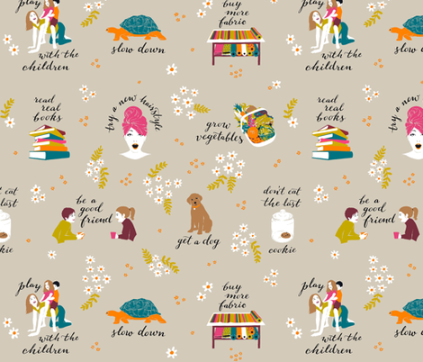 Good intentions fabric by cerigwen on Spoonflower - custom fabric