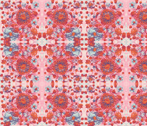 floridly_floral restricted ugly darn palette fabric by nerdlypainter on Spoonflower - custom fabric
