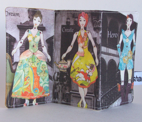 Fashion Fairy Tale folding fabric book