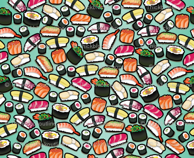 Aqua / Mint Sushi