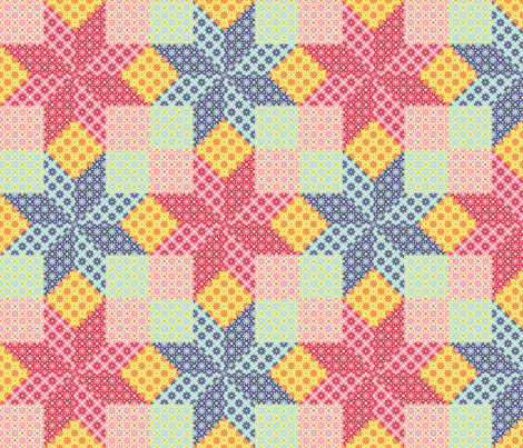 S84 V2r2 floral fabric by sef on Spoonflower - custom fabric