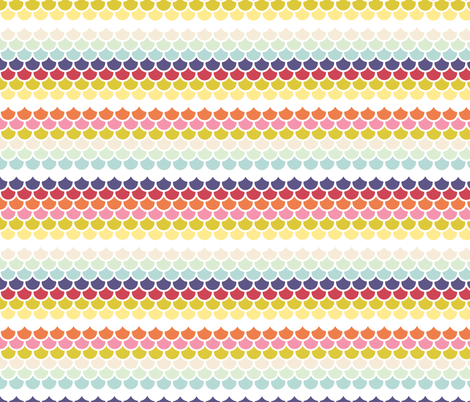 Fish scales - spring palette fabric by little_fish on Spoonflower - custom fabric