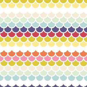 Fish scales - spring palette