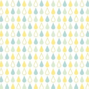 Rain drops - spring palette blue yellow