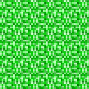 Creepy Green Pixel Monster - Medium