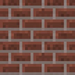 Pixelated Red Bricks - Large