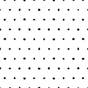 organic black and white dots