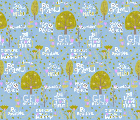 my resolutions! fabric by pattyryboltdesigns on Spoonflower - custom fabric