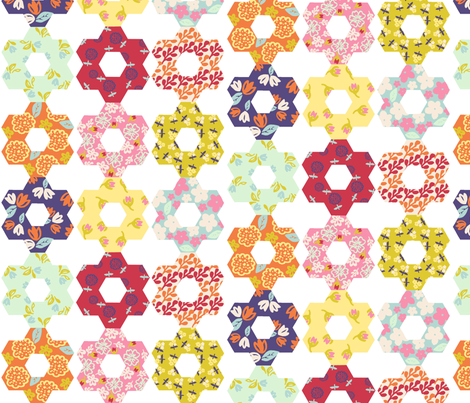 Vintage Garden Quilt fabric by graceful on Spoonflower - custom fabric