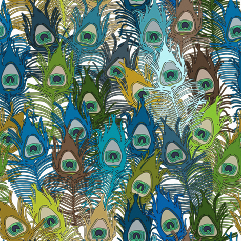 peacock camo fabric by scrummy on Spoonflower - custom fabric