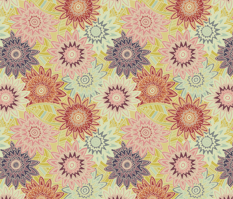 springtime flowers vintage fabric by scrummy on Spoonflower - custom fabric