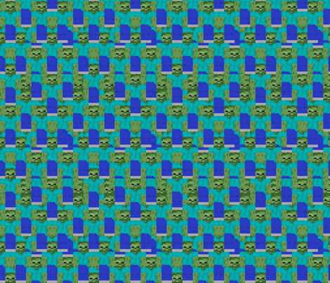 Minecraft Zombie - Small fabric by elsielevelsup on Spoonflower - custom fabric