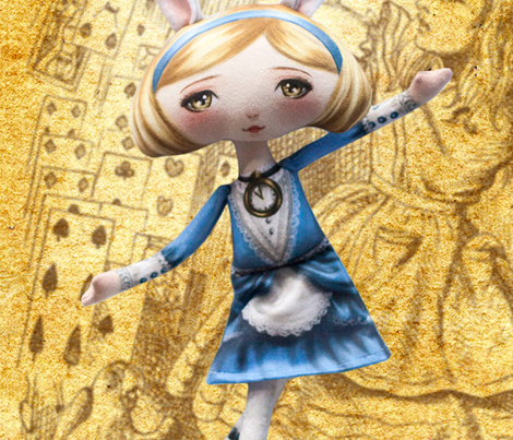 Cut and Sew Doll Alice in Wonderland Bunny