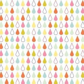 Rain drops - spring palette multi