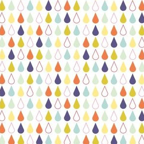 Rain drops - spring palette multi purple
