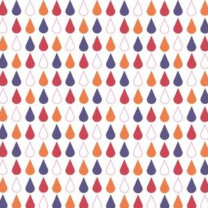Rain drops - spring palette purple red orange