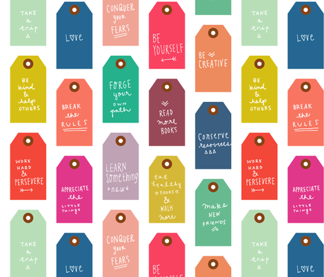 Resolution Tags fabric by endemic on Spoonflower - custom fabric