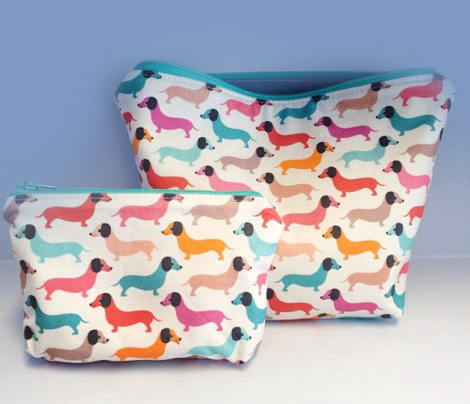 Vintage dogs dachshund illustration pattern