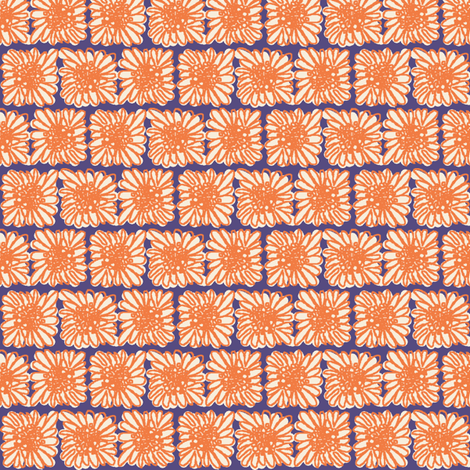 Crazy Daisy Brick fabric by joybucket on Spoonflower - custom fabric