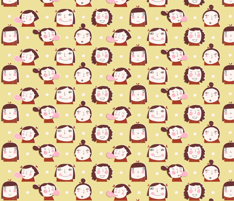 brunettes fabric by anda on Spoonflower - custom fabric